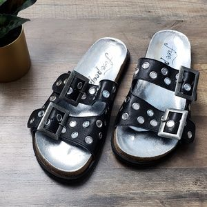 New!! Free People Bali Double Buckle Slides